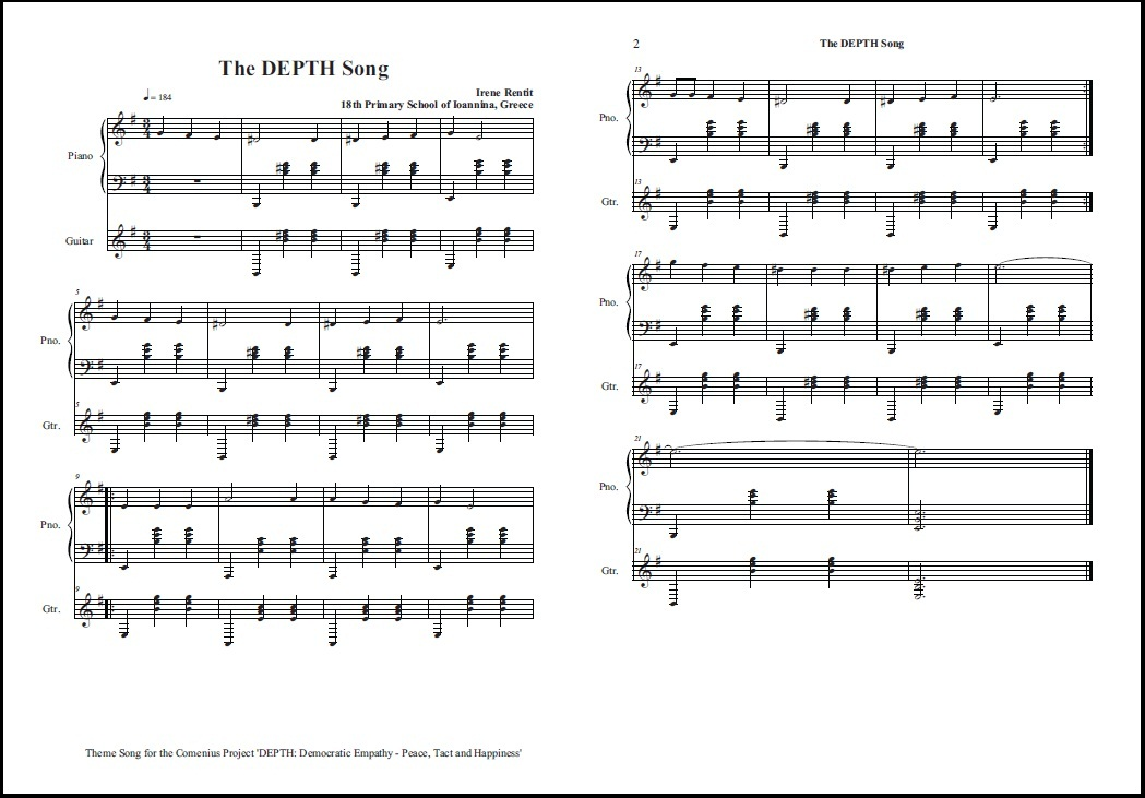 DEPTH Song - Notes